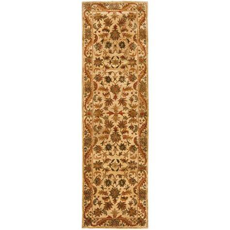 10 ft runner rug safavieh antiquity gold 2 ft 3 in x 10 ft rug runner at52d 210 the home depot
