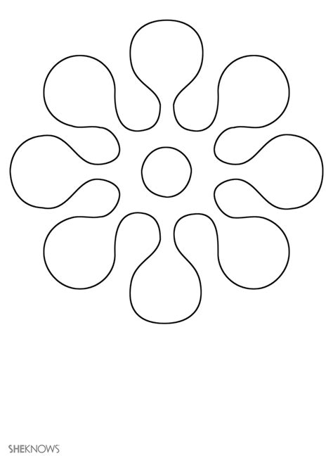 flower templates free early play templates flower templates free