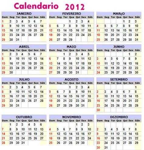 Calendario De 2012 Calendarios 2012 Variados Para Coleccionar Mil Recursos