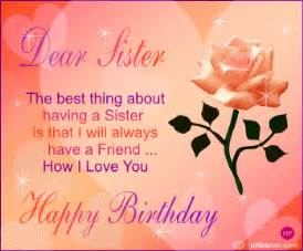 Dear sister happy birthday happy birthday myniceprofile com