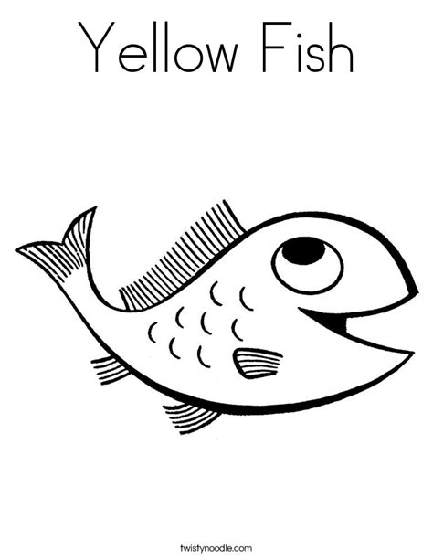 coloring page for yellow yellow fish coloring page twisty noodle