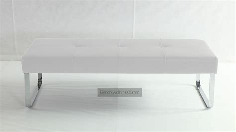 dining bench white white dining bench modern white leather bench metal legs