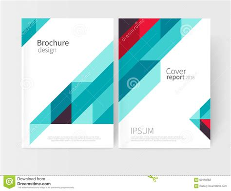 design proposal vector triangles and lines annual report flyer brochure template