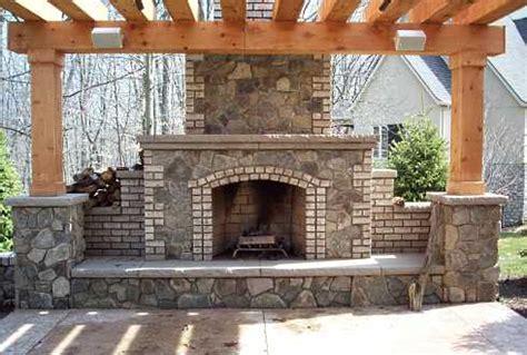 pergola plans  fireplace  woodworking