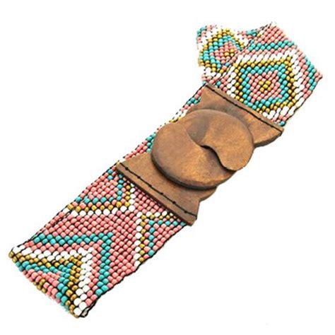 aztec beaded belt buy ginga s galleria s aztec beaded elastic belt