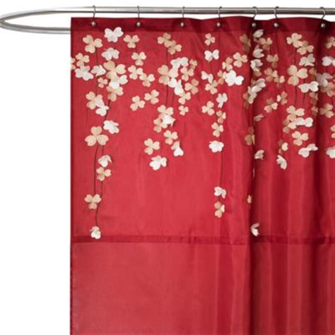 red fabric shower curtains buy 72 red shower curtain from bed bath beyond