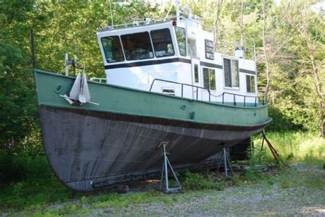 tug boat hull for sale 1957 steel hull trawler tug aluminum superstructure