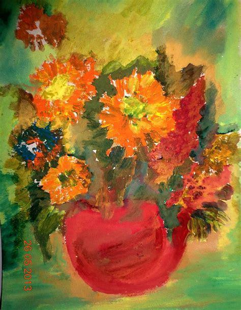art dinca flowers painting by farfallina art gabriela dinca