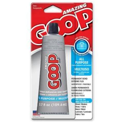 Goop Plumbing Glue by Amazing Goop 3 7 Fl Oz All Purpose Adhesive 140211 The Home Depot