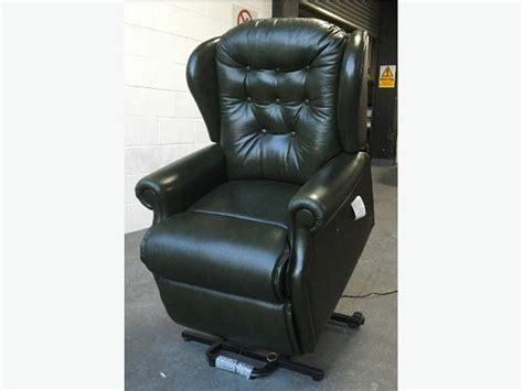 green leather recliner chair sherborne green leather rise recliner chair we deliver