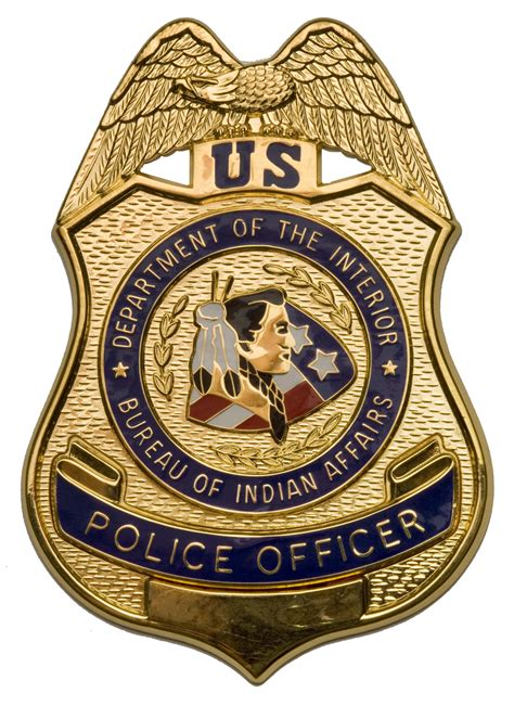interior bureau of indian affairs file bia officer badge jpg wikimedia commons