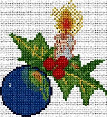 adorno de navidad punto de cruz youtube patrones navidad apartado a en punto de cruz