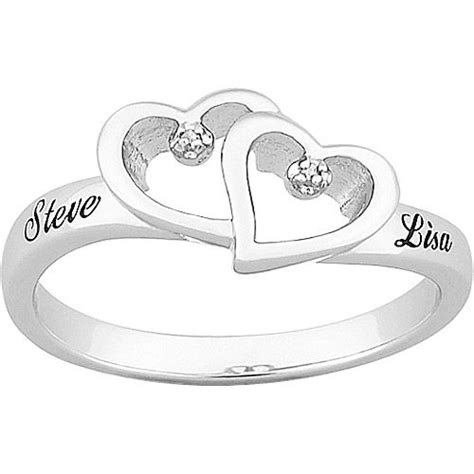 personalized platinum plated sterling silver
