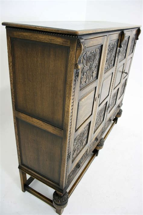Antique Pantry Cabinet by Antique Scottish Carved Oak 4 Door Cabinet Pantry Linen