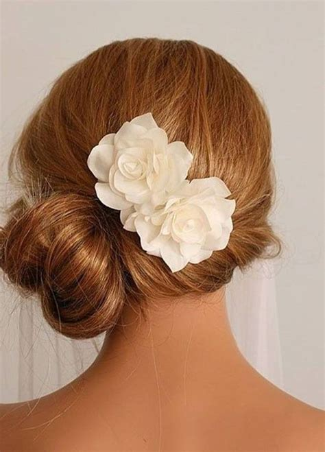 Wedding Hair Side Bun With Flower by Side Bun With Flower Bridesmaid Hairstyles For Hair