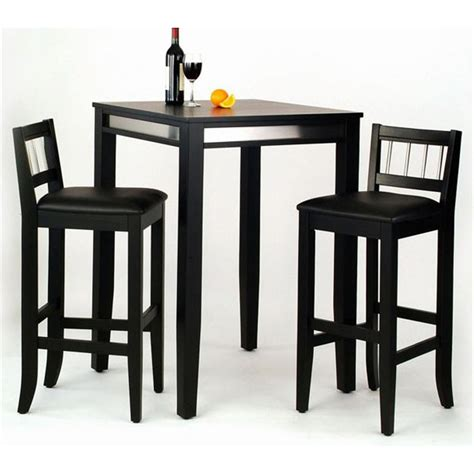 pub dining table home styles manhattan black pub table with stainless steel accents 143048 kitchen dining