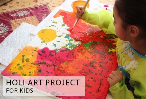 holi crafts for holi project for multicultural kid blogs