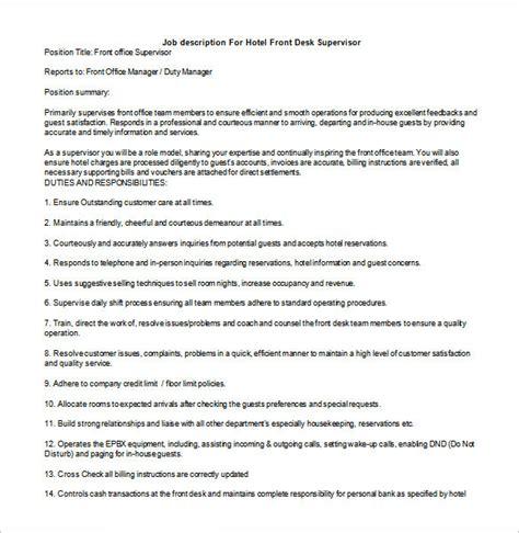 10 supervisor description templates free sle