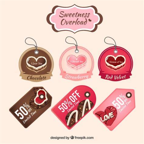 establecer etiquetas vintage con los corazones vector de colecci 243 n de etiquetas de dulces de coraz 243 n descargar