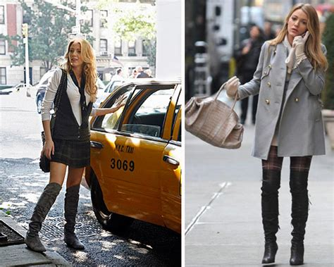 Found Serena Der Woodsens Grey Suede The Knee Boots by Xoxo Gossip Your City Burrp