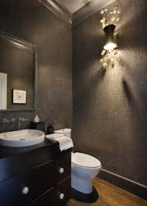 Dark Gray Powder Room Powder Rooms Small In Size But Big In Style