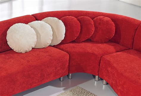red fabric sofa the red modern fabric sectional sofa
