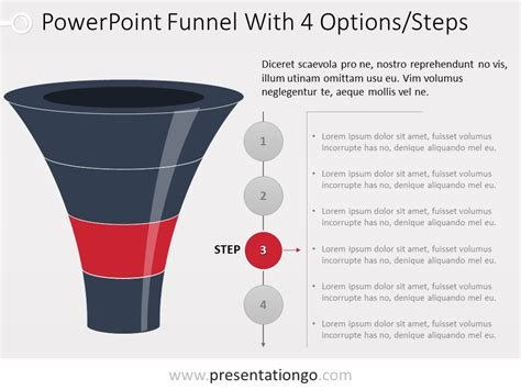 Free Powerpoint Layered Funnel Process 4 Stages Powerpoint Funnel Template