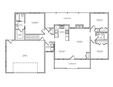 Ranch Style Floor Plan by Basic Ranch Style House Plans New Small House Floor Plans