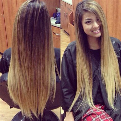 hairstyles for long dip dyed hair long brown blonde ombre hair 18 inch double wefted full