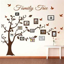 wall picture stickers picture frame family tree wall art tree decals trendy