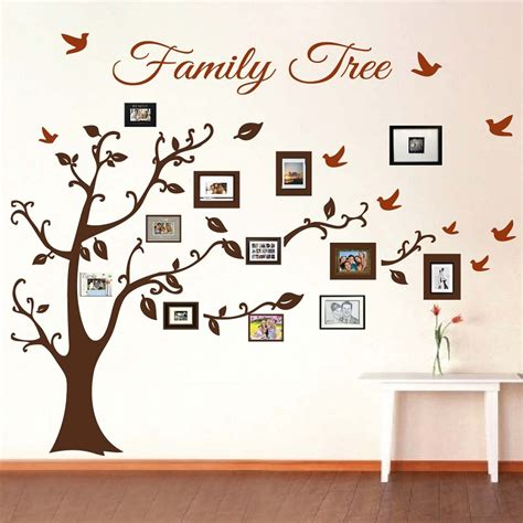 Picture Frame Family Tree Wall Art Tree Decals Trendy Wall Designs At Family Tree For Your Design