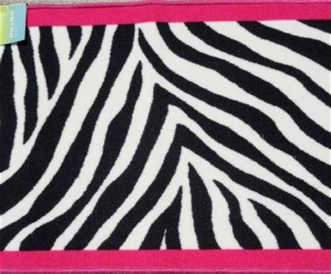 pink and black zebra rug black white pink zebra carpet rug bedroom bath kid decor new ebay