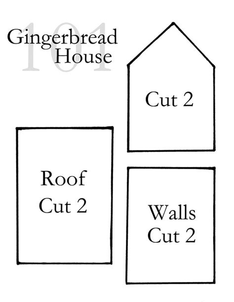 house pattern gingerbread house template playbestonlinegames