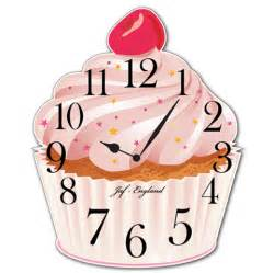 Bathroom Wall Lights Uk - jaf graphics cupcake clock cute vintage cupcake wall clock british bake off wall clock