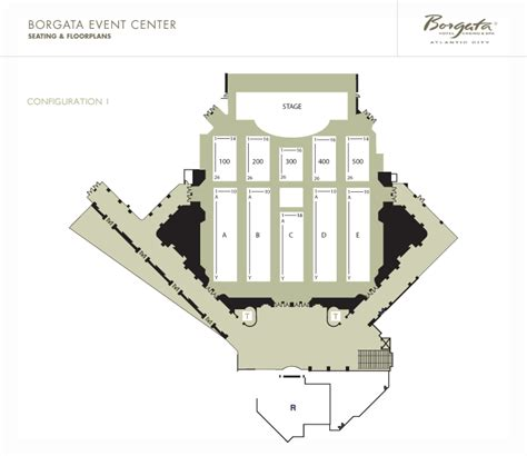 borgata casino floor plan event center borgata seating chart images
