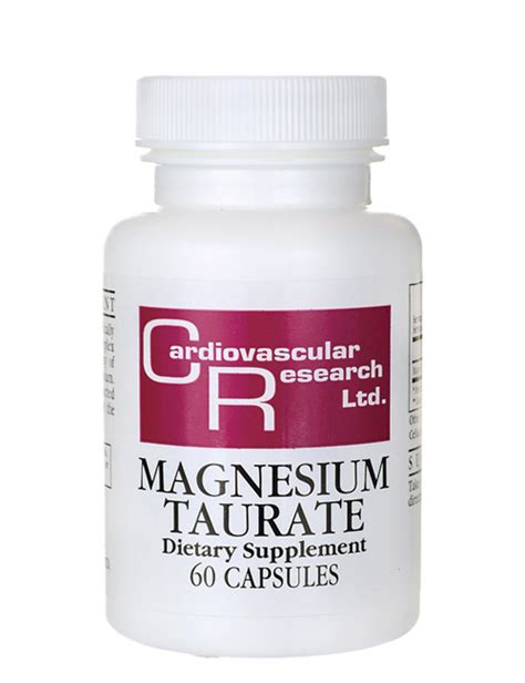 Magnesium Taurate Detox by Cardiovascular Research Magnesium Taurate