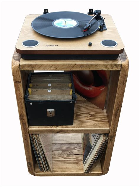 record player table and storage record player stand lp storage box record player
