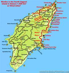 Rhodes Greece Map by Rhodes Map Rhodes Greece Map Private Full Day Tour Route Map