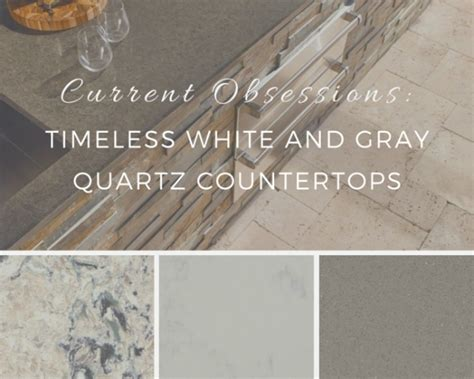 Kitchen Counter Backsplash Ideas by Current Obsessions Timeless White And Gray Quartz Countertops
