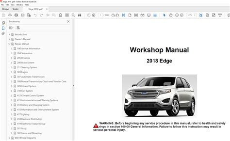 how to download repair manuals 2007 ford edge interior lighting ford edge 2015 2018 factory repair manual