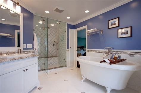 blue bathtub remodel blue and white interiors living rooms kitchens bedrooms