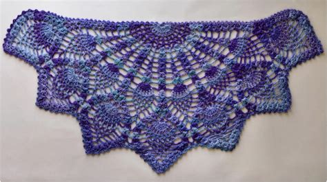 Crochet Patterns For Home Decor by Pineapple Crochet Peacock Shawl Free Pattern In Pdf