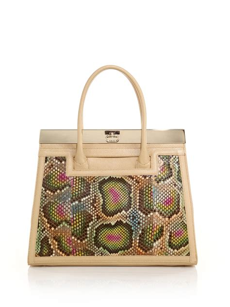 Tracy Reese Robin Filigree Convertible Tote by Lyst Ocleppo Roma Pebbled Leather Patent Leather