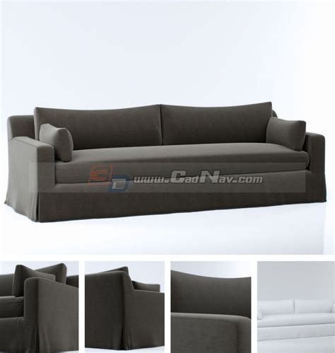 Model Sofa Bed Cushion Fabric Sofa Bed 3d Model 3dmax Files Free Modeling 3406 On Cadnav