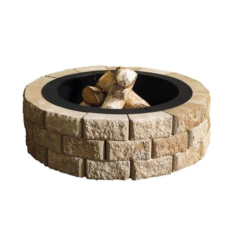 Outdoor Pit Ring Kits by Oldcastle Hudson 40 In Pit Kit 70300877
