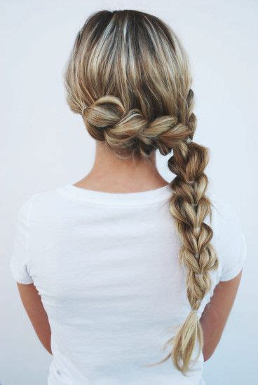 hairstyle using rubberbainds and folding hair through to create braid best 25 rubber band hairstyles ideas on pinterest kids