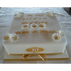 "10"" Square Golden Wedding Cake   Celebration Cakes by Carol"