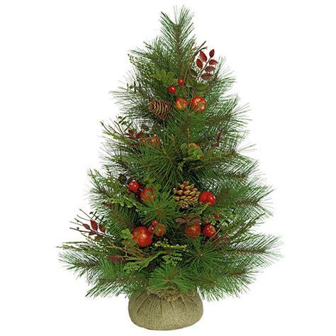24 inch sugar pine christmas tree set of 2 c 60750