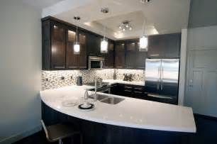 Best Kitchen Backsplashes Urban Townhome Kitchen With Espresso Cabinets And White