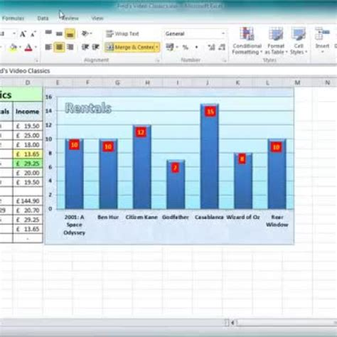tutorial excel charts excel 2010 tutorial for beginners 11 chart